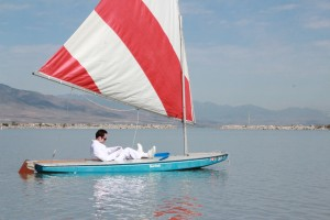 Olaf in a Sailboat