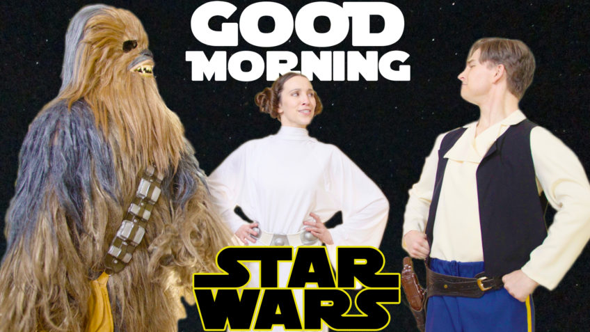 Good Morning Star Wars Tribute to Carrie Fisher & Debbie Reynolds Singing in the Rain Tap Dance